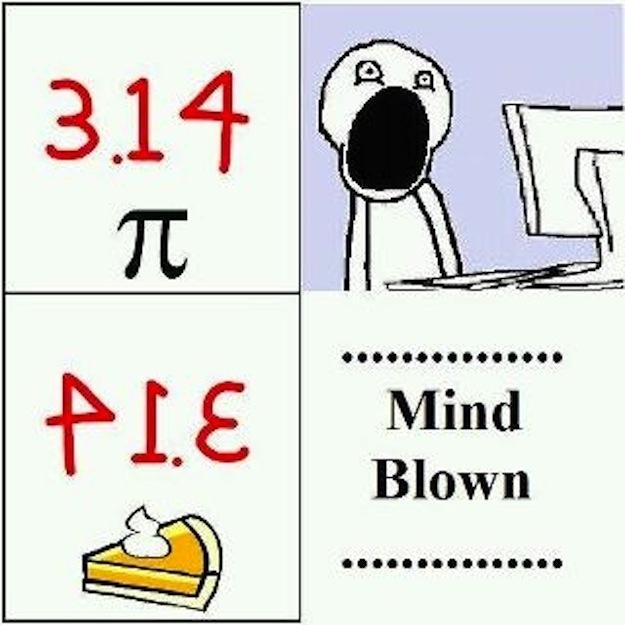 3.14 backwards is pie?! Mind Blown!