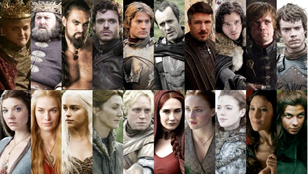 game of thrones character collage