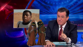 stephen colbert defends light saber design