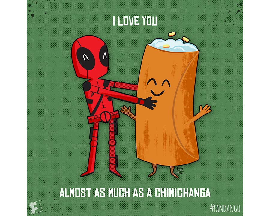 Deadpool Chimichanga Valentine