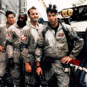 1984 --- Harold Ramis, Ernie Hudson, Bill Murray and Dan Aykroyd in the movie Ghostbusters. --- Image by © CinemaPhoto/Corbis