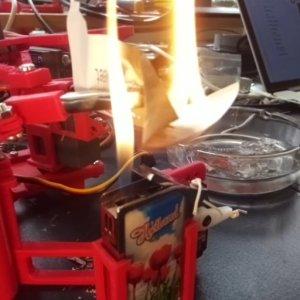 Tweet Burning Robot