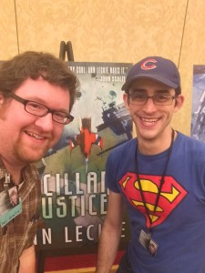 Taylor and Jason in front of 2013 PKD Nominee Ancillary Justice