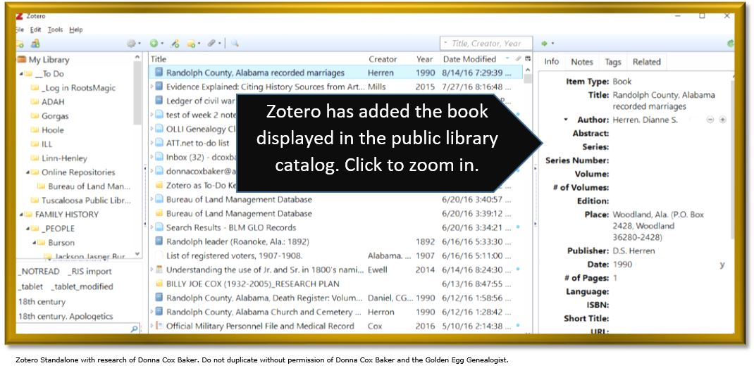 Zotero for genealogy getting your ducks in a row \u2014 The Golden Egg
