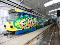 Ausgemusterte Straßenbahnen in Leutzsch