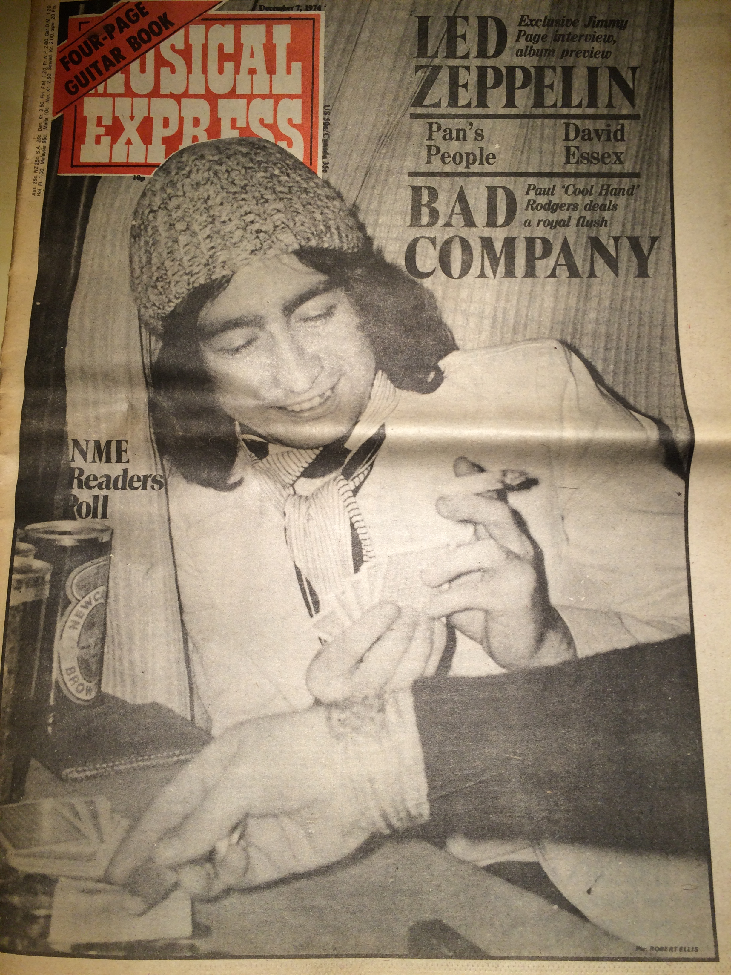 Vintage Bad Company Article About Bad Company From New Musical Express December