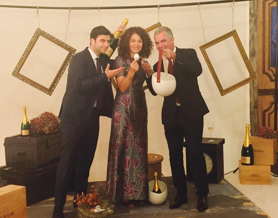 Da dx Olivier Krug, Francesca Terragni e Andrea Pasqua