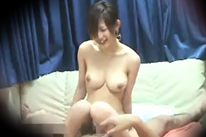 【盗撮】スレンダーボディにFカップのモデル級美女のセックスが流出…