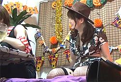 【盗●】ハロウィンパーティーに誘った巨乳コスプレ娘をそのままハメる一部始終