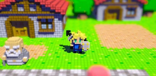 3d Action Game Wallpaper 3d Dot Game Heroes Cloud Amongst Others Gematsu