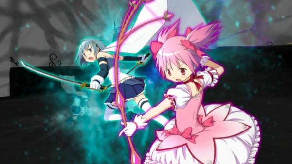 Boy Kick Girl Wallpaper Madoka Magica The Battle Pentagram Battle System Detailed