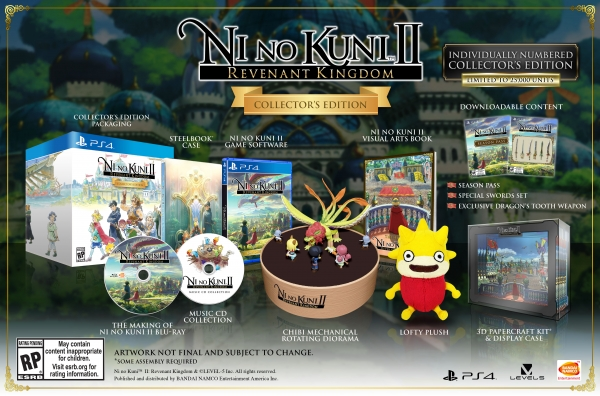 Ni No Kuni Ii Revenant Kingdom Special Editions And
