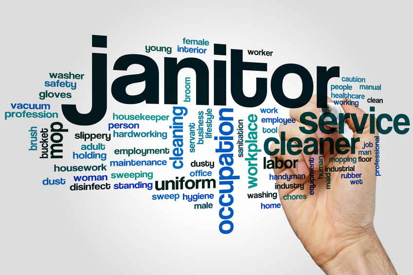Janitor word cloud Gemini Janitorial Services  Supplies