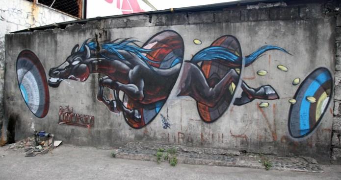 flying horse graffiti, San Juan, Philippines March 2016