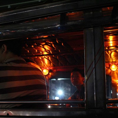 two jeepney interiors