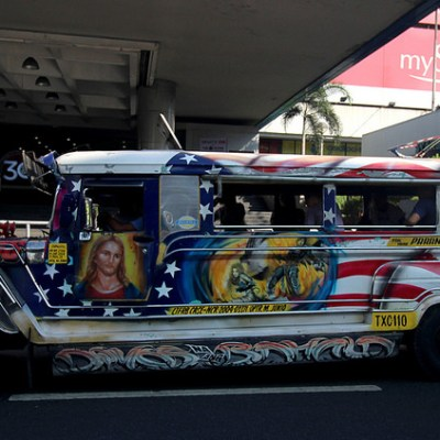 jeepney and tricycle art
