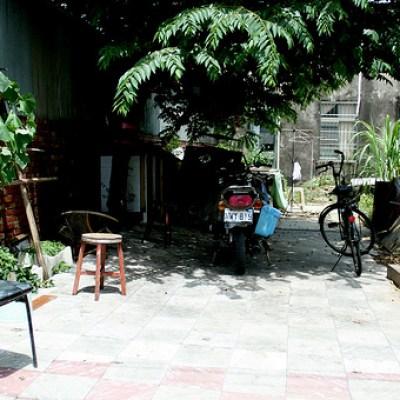 empty rural courtyard