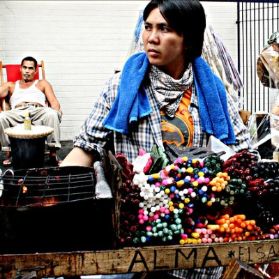 quiapo candle vendor