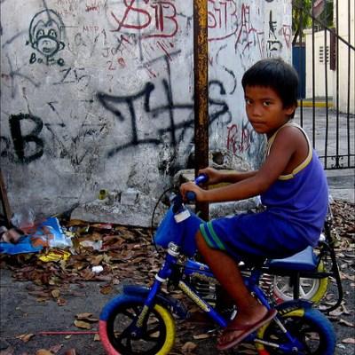 boy on a bike