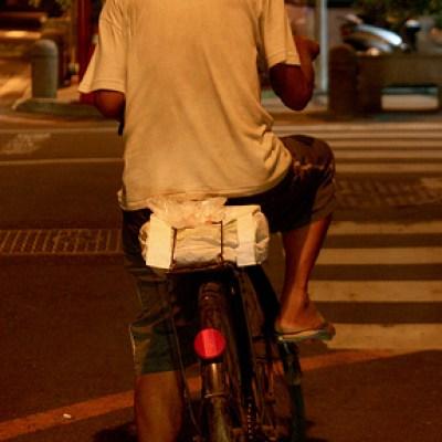 old man biking around
