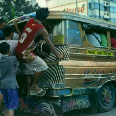 crowded jeepney