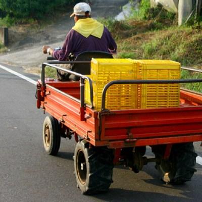 farmer transporting stuff