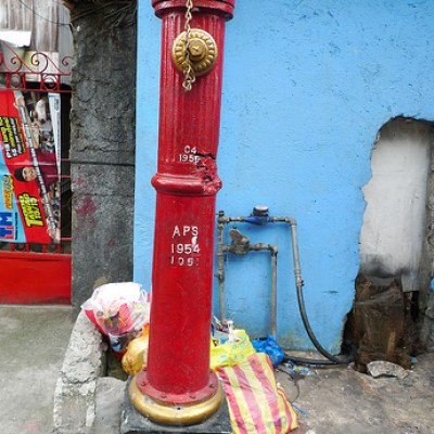long and narrow fire hydrant