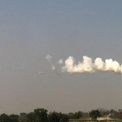 smoke blowing out