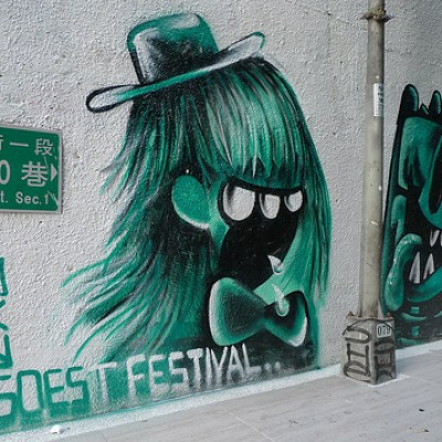 green graffiti