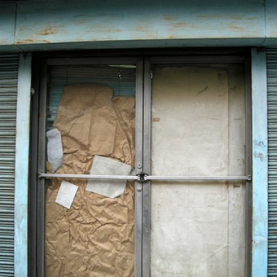 boarded up
