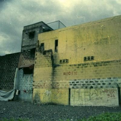 graffiti in a vacant lot
