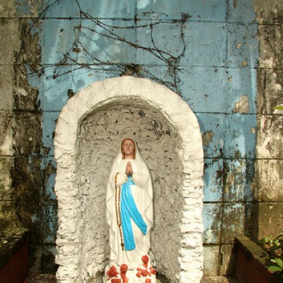 street side Virgin Mary altar