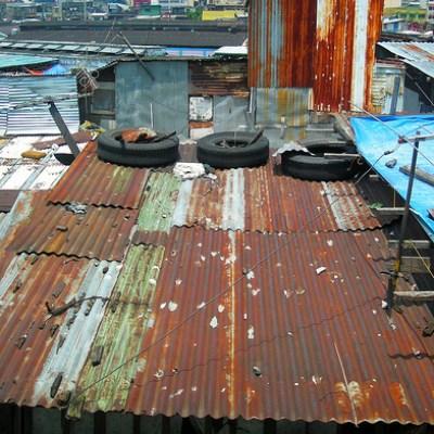 shanty rooftops