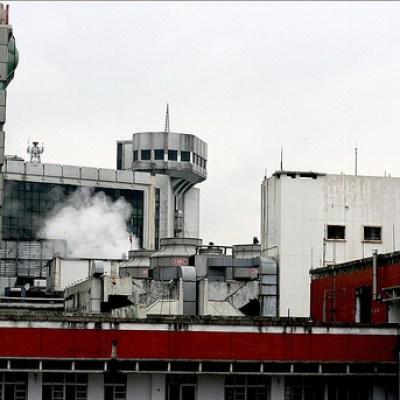 factory spewing smoke
