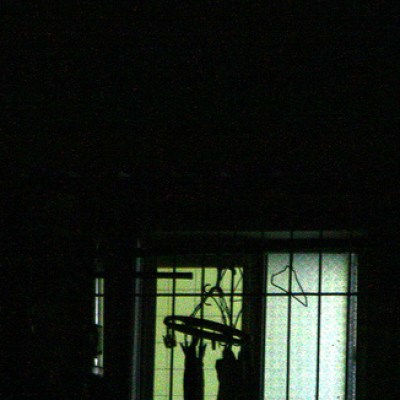 laundry outline through a window