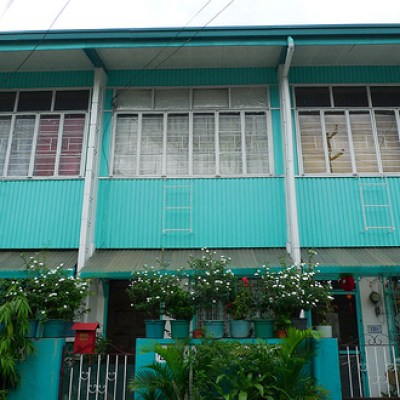 green house with 3 windows