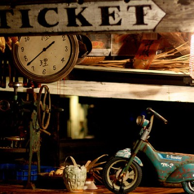 retro ticket counter