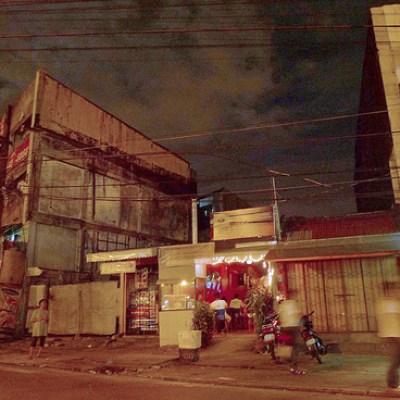 Quezon City street at night