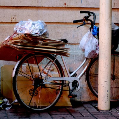 bicycle loaded with stuff