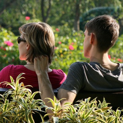 couple in HK garden
