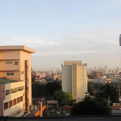Manila Buildings at Dusk