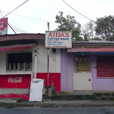 Aida Curtain Maker with coke sign