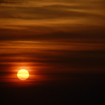 reddish sunset over cijin beach