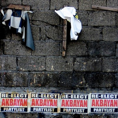 wall with election posters
