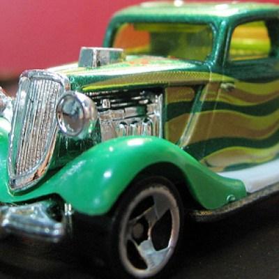 vintage green car