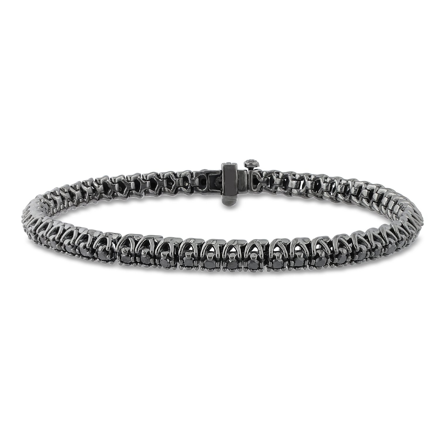 Black Diamond 6 50 Carat Jet Black Diamond Tennis Bracelet Direct From Wholesaler Huge Tennis Diamonds Men S Bracelet 14k White Gold13 43 Carat Men S Black