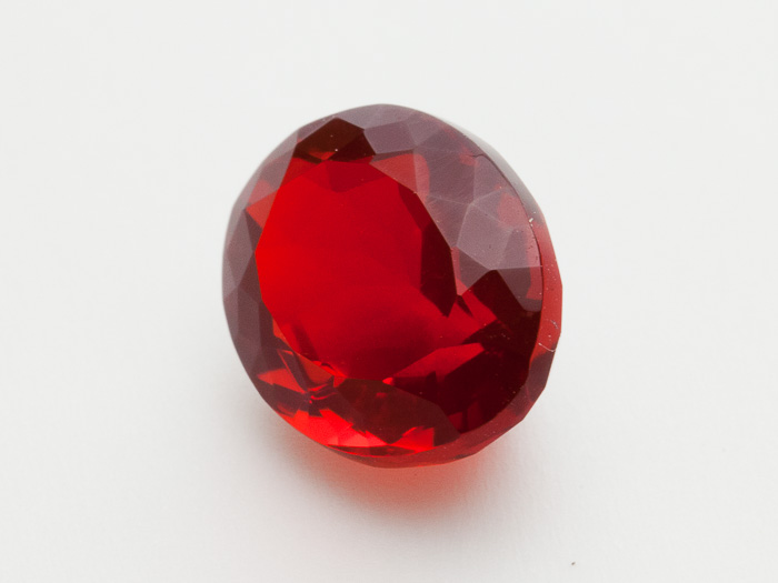 29 Ct Faceted Red Oval Mexican Fire Opal Mo229 Gems