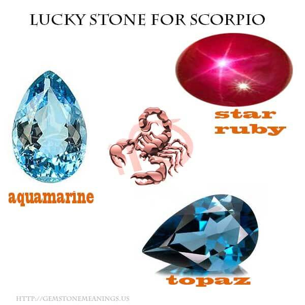 lucky for scorpio gemstone meanings