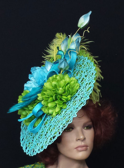 Salon Jute Fascinators Headpieces Custom Hats Millinery Kentucky
