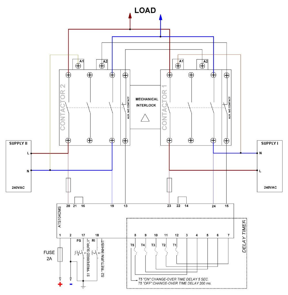 Ats Wiring Diagrams Auto Electrical Diagram 4 Pole